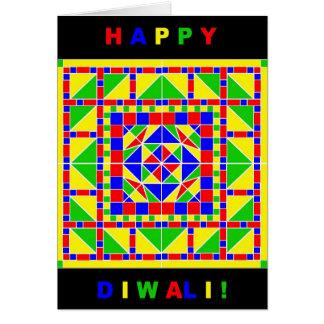 Primary Colors Rangoli Diwali Card