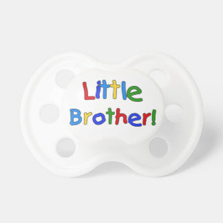Primary Colors Text  Little Brother Pacifier