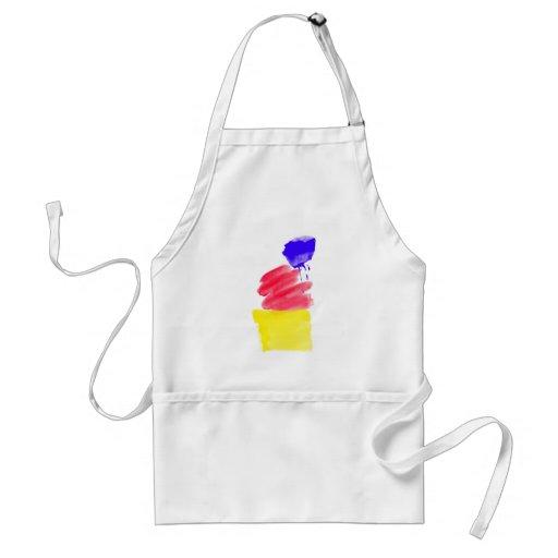 Primary Colors Watercolor Apron