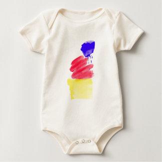 Primary Colors Watercolor Baby Bodysuit
