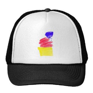 Primary Colors Watercolor Cap