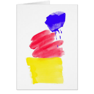 Primary Colors Watercolor Greeting Card