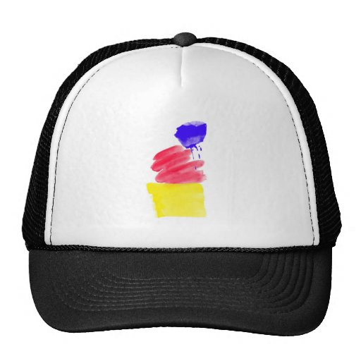 Primary Colors Watercolor Hats
