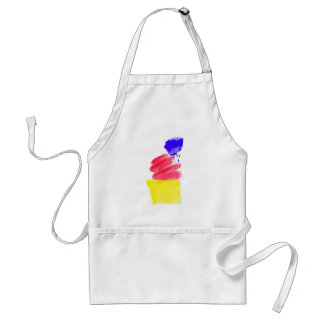 Primary Colors Watercolor Standard Apron