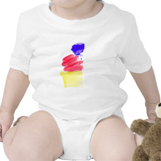 Primary Colors Watercolor T Shirt