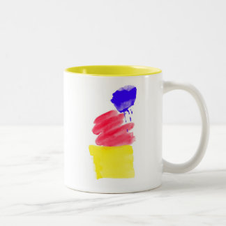 Primary Colors Watercolor Two-Tone Mug