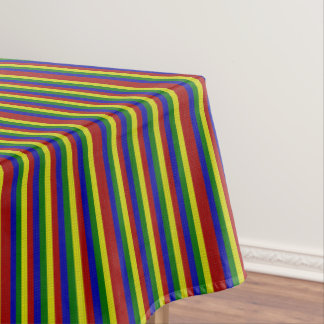 PRIMARY COLORS WOVEN STRIPES-52x70 TABLECLOTH