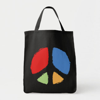Primary Peace Canvas Bags