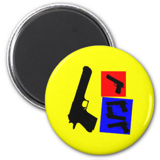 Primary Pistol Motion 6 Cm Round Magnet