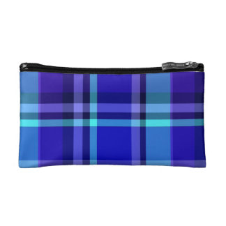 Primary Plaid Cosmetics Bags