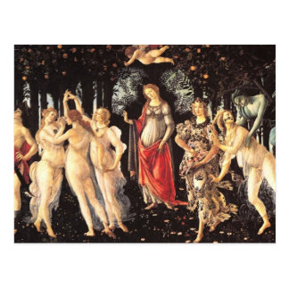 Primavera / Allegory of Spring by Botticelli Postcard
