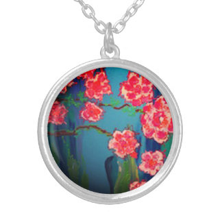 """""""primavera"""" art by Beth Wellesley Silver Plated Necklace"""