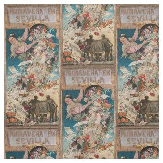 """Primavera en Sevilla"" vintage art fabric"