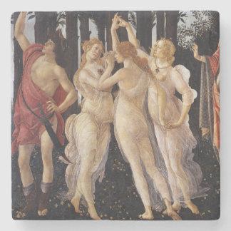 Primavera: The Three Graces by Botticelli Stone Coaster