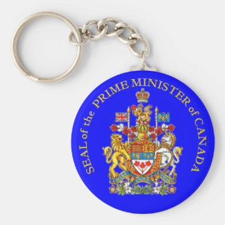 Prime Minister of Canada Basic Round Button Key Ring