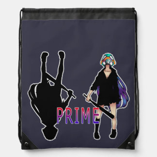 -PRIME- SNOW BATGIRL DRAWSTRING BAG