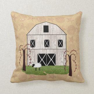 Primitive Barn Throw Pillow