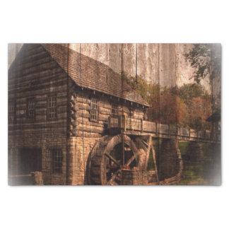 Primitive Barn Wood farmhouse mill water wheel Tissue Paper