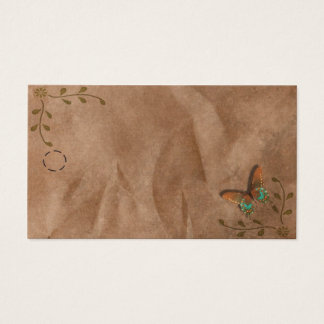 Primitive Butterfly Hang Tag Business Card
