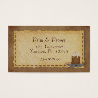 Primitive Candle Business Card