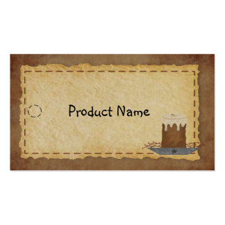 Primitive Candle Hang Tag Pack Of Standard Business Cards