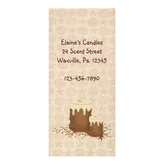 Primitive Candles Rack Card Book Mark