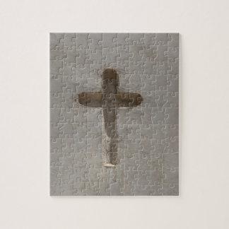 Primitive Christian Cross customize favorite Bible Jigsaw Puzzle