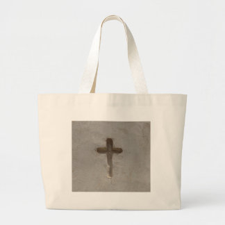 Primitive Christian Cross customize favorite Bible Large Tote Bag