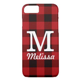 Primitive Cottage Red buffalo Plaid lumberjack iPhone 8/7 Case