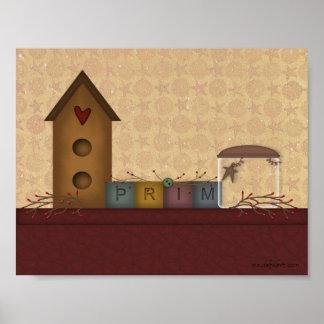Primitive Country Shelf Print