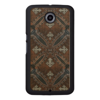 Primitive cowboy western country Tooled Leather Wood Phone Case