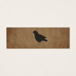 Primitive Crow Hang Tag Mini Business Card