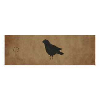 Primitive Crow Hang Tag Pack Of Skinny Business Cards