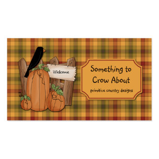 Primitive Crows Country Design Pack Of Standard Business Cards