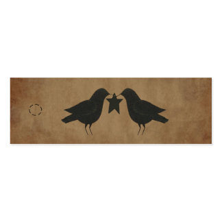 Primitive Crows Hang Tag Business Cards