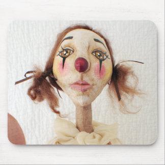 Primitive Folk Art Clown Mouse Pad