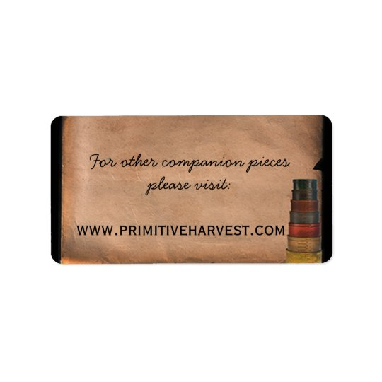 Primitive Harvest Special Label