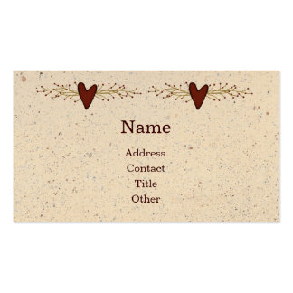 Primitive Heart Business Card