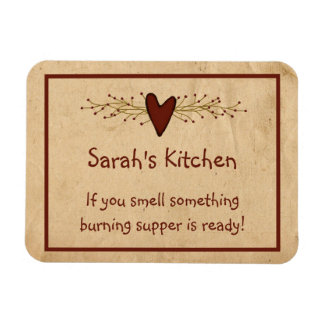 Primitive Heart Kitchen Magnet