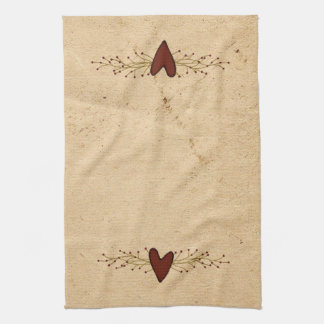 Primitive Heart Kitchen Towel