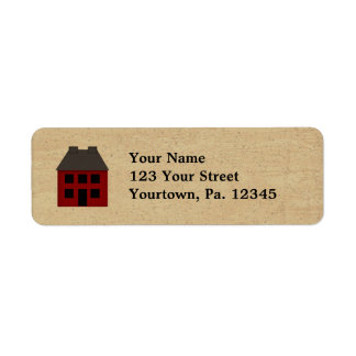 Primitive House Address Label