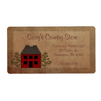 Primitive House Business Label Shipping Label