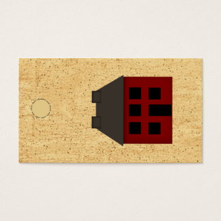 Primitive House Hang Tag Business Card
