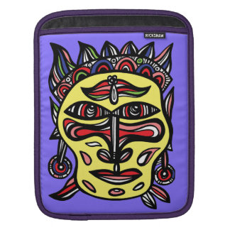 """Primitive Mask"" Ipad Soft Case Sleeve For iPads"
