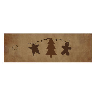 Primitive Ornaments Hang Tag Pack Of Skinny Business Cards