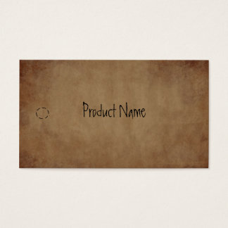 Primitive Paper Hang Tag Business Card