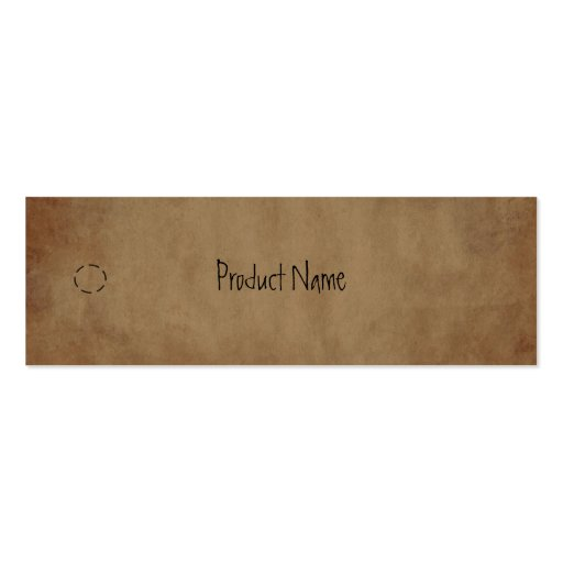 Primitive Paper Hang Tag Business Card Template : Zazzle