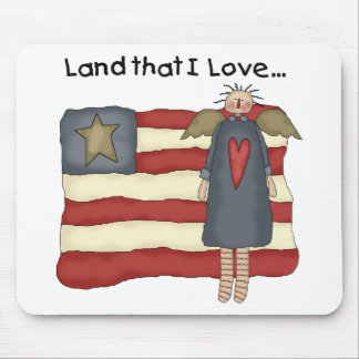 Primitive Patriotic Mouse Pad