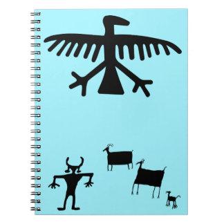 Primitive Petroglyph Tribal Deer Dance Notebook