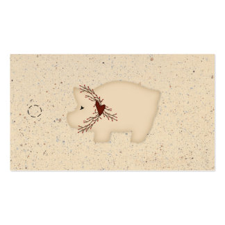 Primitive Pig Hang Tag Pack Of Standard Business Cards